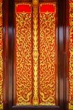 Buddhist Church Door Stock Photography