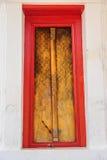 Buddhist Church Door. Stock Image