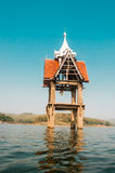 Buddhist Church drown in water Kanchanaburi Stock Photography