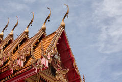 Buddhist church roof Royalty Free Stock Image
