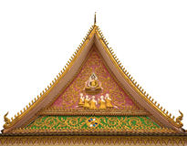Buddhist church roof Stock Photography