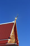 Buddhist church roof. The church is used for religious rites of the Buddhists Stock Images