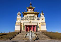 Golden Abode of Buddha Shakyamuni . Elista. Buddhist complex Golden Abode of Buddha Shakyamuni. Elista. Russia royalty free stock photography