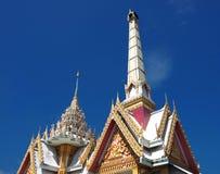 Buddhist crematorium soars into blue sky Stock Images