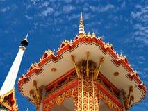 Buddhist crematorium soars into blue sky Royalty Free Stock Image