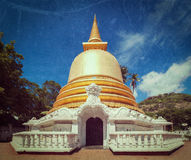 Buddhist dagoba (stupa) in Golden Temple, Dambulla, Sri Lanka Stock Image