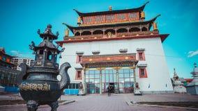 Buddhist datsan in Ulan Bator, Mongolia stock photos