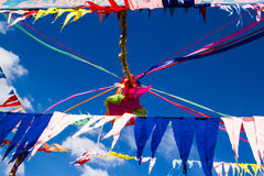 Buddhist decoration flags Royalty Free Stock Images