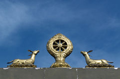 Buddhist Deer Emblem Stock Images