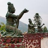 Buddhist Deva statue Stock Photos