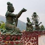Buddhist Deva statue. Buddhist statue at Po Lin Monastery, Hong Kong Stock Photos