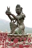 Buddhist Deva statue. Buddhist statue at Po Lin Monastery, Hong Kong Stock Images