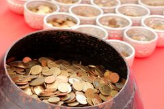 Buddhist donation bowl Royalty Free Stock Image