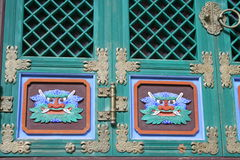 Buddhist door. At a temple Royalty Free Stock Photography