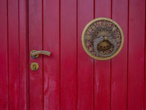 Buddhist door. Red door of Buddhist temple in Gramado - Tres Coracoes - Brazil Stock Images