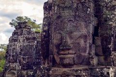 Buddhist faces Bayon Temple, Angkor wat. Stock Photography
