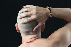 Buddhist Feels Shaved Head Stock Photography