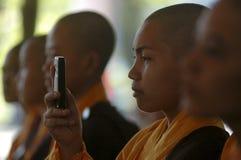 BUDDHIST FEMALE MONK Stock Photos