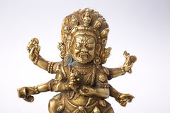 Buddhist figure with patina Royalty Free Stock Photography
