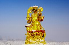 Buddhist figure sculpture Royalty Free Stock Images