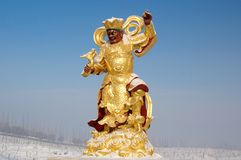 Buddhist figure sculpture Royalty Free Stock Photography
