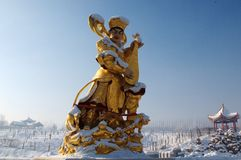 Buddhist figure sculpture Royalty Free Stock Photo