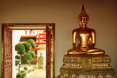 Buddhist figure in temple Stock Photos