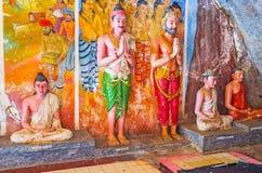 The Buddhist figures Stock Photo