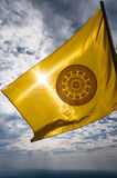 Buddhist flag in Thailand. The Dharmachakra flag, symbol of Buddhism in Thailand Royalty Free Stock Images