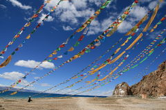Buddhist Flags Royalty Free Stock Image