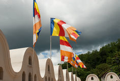Buddhist flags Stock Photos