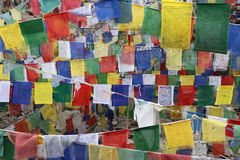 Buddhist  flags for background Royalty Free Stock Image