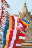 Buddhist flags in Cambodia Stock Photos