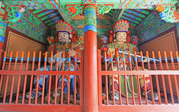 Buddhist Four Great Heavenly Kings Statue. Four Great Heavenly Kings Statue In Korea Busan Beomeosa Temple Stock Image