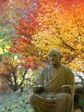 Buddhist garden in autumn Royalty Free Stock Images