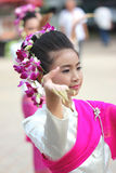 Buddhist girl dance Royalty Free Stock Image