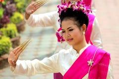 Buddhist girls finger dance royalty free stock images