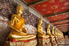 Buddhist gold statue Stock Photography