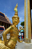 Buddhist gold statue Royalty Free Stock Photos
