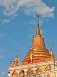 Buddhist golden pagoda Royalty Free Stock Photo