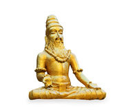 Buddhist golden statue man meditating Stock Photography