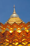Buddhist golden stupa Royalty Free Stock Photography
