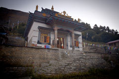 Buddhist gompa and monastery in the Nepal Stock Photo