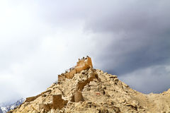 Buddhist gompa remains Royalty Free Stock Photo