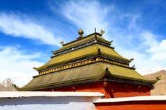 Buddhist gompa, shanti stupa Stock Images