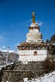 A Buddhist Gompa or Stupa on the Annapurna circuit route. Trekking in Nepal.  royalty free stock images