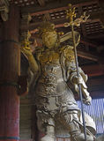 Buddhist Guardian Bishamon in Todaiji, Nara Stock Photo