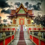 Buddhist hall Stock Photo