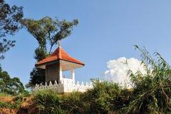 Buddhist hill temple, Sri Lanka. Buddhist temple on a hill in central Sri Lanka Royalty Free Stock Photo