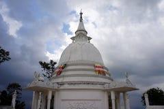 Buddhist hill temple, Sri Lanka. Buddhist temple on a hill in central Sri Lanka Royalty Free Stock Photos